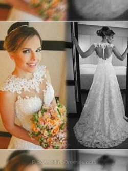 Vintage Lace Wedding Dresses   Amazing Long Sleeve Lace Dress, PWD