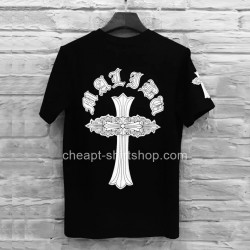 2016 Floral Cross Crew Neck Black Chrome Hearts T-shirt [Chrome Hearts T-shirt] – $138.00  ...