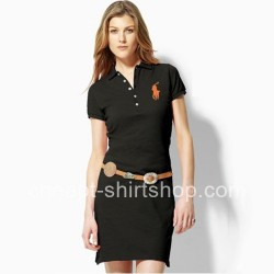 Ralph Lauren Big Pony Black Cotton Slim Polo Dress [Ralph Lauren Polo Dresses] – $59.00 :  ...
