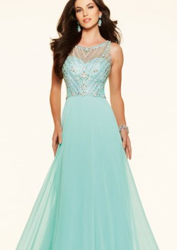 US$165.99 2016 Beading Blue Straps Chiffon Ruched Sleeveless Floor Length
