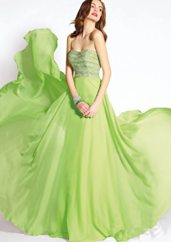 US$145.99 2015 Criss Cross Strapless Beading Chiffon Ruched Floor Length