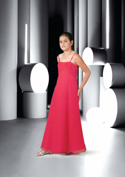 US$95.99 2015 Red Ruched Sleeveless Spaghetti Straps Chiffon Floor Length