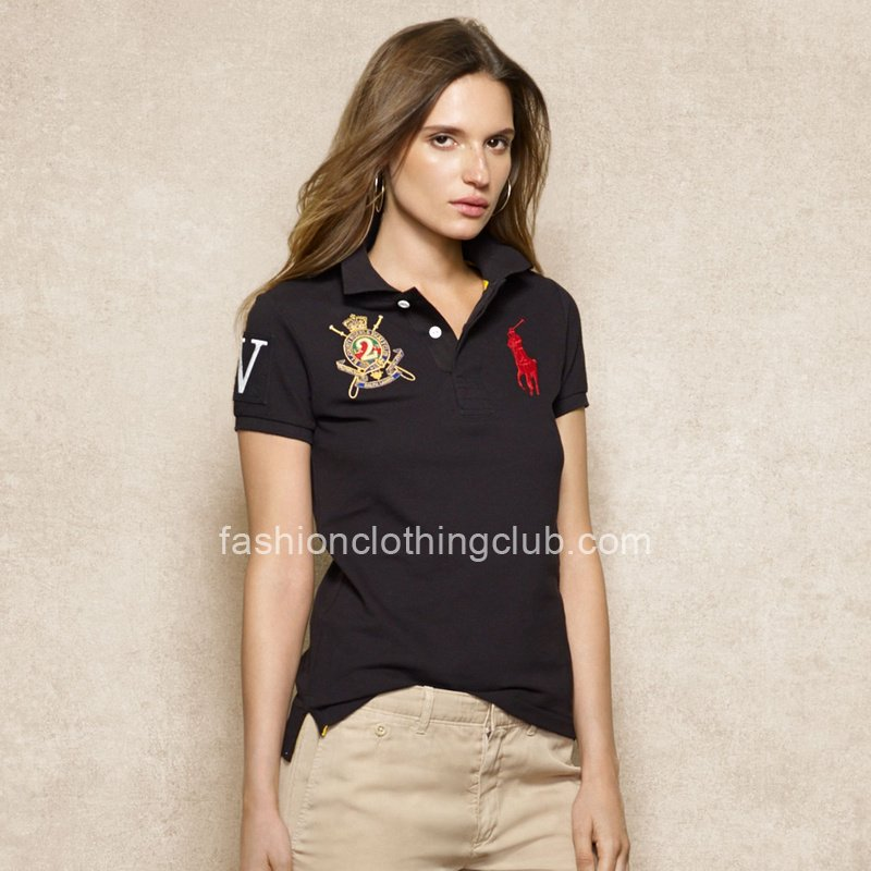 Ralph Lauren Big Pony VII Womens Black Polo Shirt [Ralph Lauren Polo Shirt] – $55.00 : T s ...