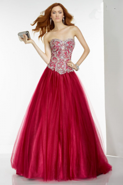 US$178.99 2016 Sleeveless Ball Gown Floor Length Lace Up Tulle Ruched Sweetheart Crystals