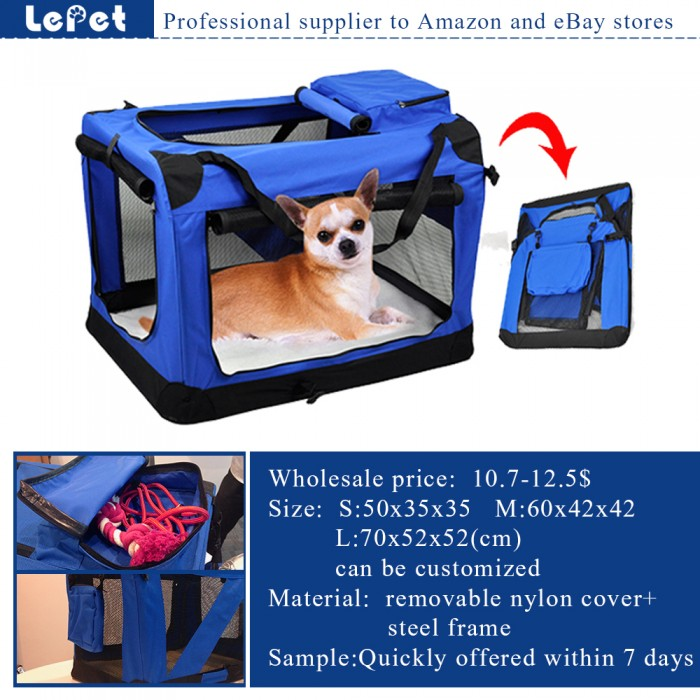 Manufacturer wholesale Oxgord Soft-Sided Comfort Travel Pet Carrier Bag dog carrier bag