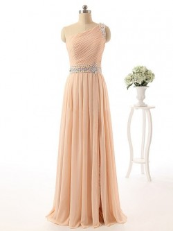 Asymmetric One Shoulder Prom Dresses Online- DressFashion UK