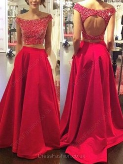 Satin Prom dresses UK in Pink, Mermaid, Short or Long Styles