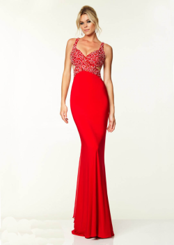 US$173.99 2015 Criss Cross Straps Sleeveless Red Black Beading Chiffon Floor Length
