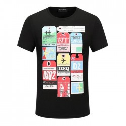 Dsquared2 Men D108 Air Tags Short Sleeves T-Shirt Black