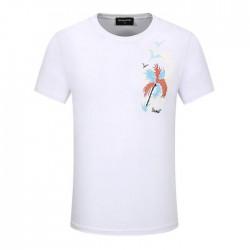 Dsquared2 Men D126 Palm Tree Short Sleeves T-Shirt White
