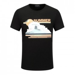 Dsquared2 Men D133 Summer Waves Short Sleeves T-Shirt Black