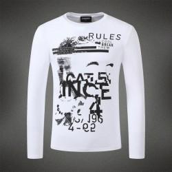 Dsquared2 Men DL08 Rules Grafitti Long Sleeves T-Shirt White