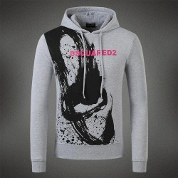 Dsquared2 Men DS02 Graffiti Print Sweatshirt Grey
