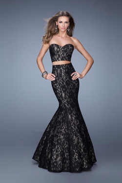 US$177.99 2015 Floor Length Lace Ruched Black Sweetheart Sleeveless Mermaid