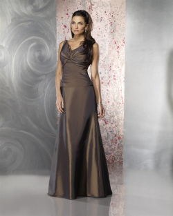 US$155.99 2015 V-neck Satin Sleeveless Floor Length