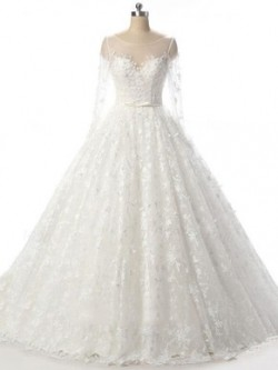 Ball Gown Wedding Dresses with Sleeves UK Online – uk.millybridal.org