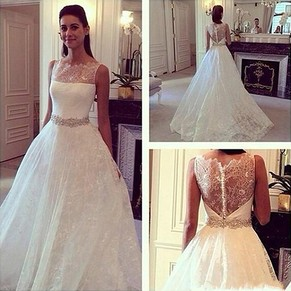 Lace Bridal Gowns, Lace Wedding Dresses – DressesofGirl