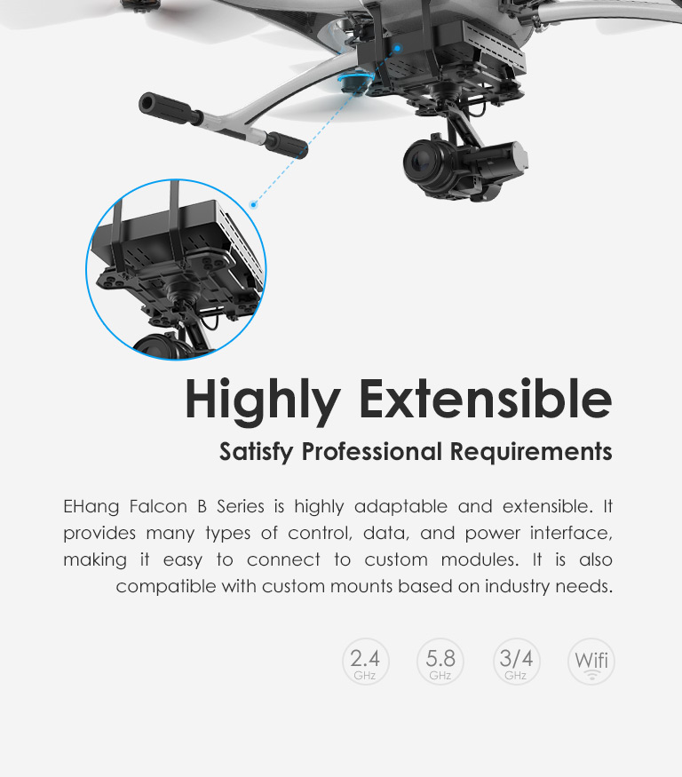 EHANG Official Site-Ehang falcon provides customized solution for industrial application.
