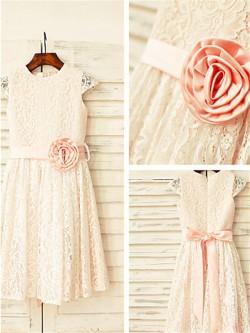 Blumenmädchenkleider Vintage, Festliche Kleider Blumenkinder Günstig für Hochzeiten