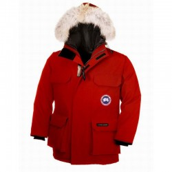 Canada Goose Kid's Expedition Parka In Red