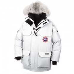 Canada Goose Kid's Expedition Parka In White