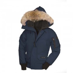 Canada Goose Youth's Chilliwack Bomber In Navy Blue