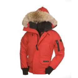 Canada Goose Youth's Chilliwack Bomber In Red