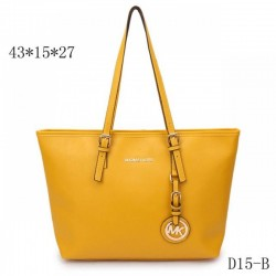 Cheap Michael Kors Jet Set Travel Leather Top-Zip Tote Yellow