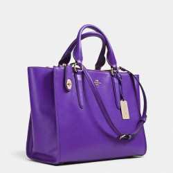 Coach Crosby Carryall in Leather Purple