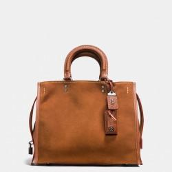 Coach 1941 Rogue Bag In Suede Brown