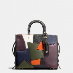 Coach 1941 Rogue Satchel In Patchwork Leather Black