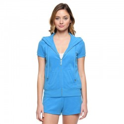 Juicy Couture Original Velour Tracksuit 607 2pcs Women Suits Blue