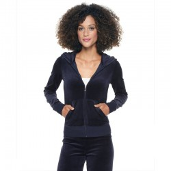 Juicy Couture Sequin Crown Velour Tracksuit 602 2pcs Women Suits Navy Blue