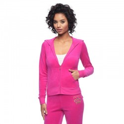 Juicy Couture Sequin Crown Velour Tracksuit 601 2pcs Women Suits Rose