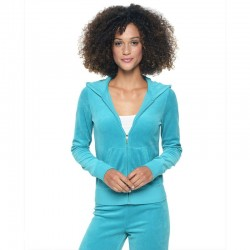 Juicy Couture Sequin Crown Velour Tracksuit 602 2pcs Women Suits Sky Blue
