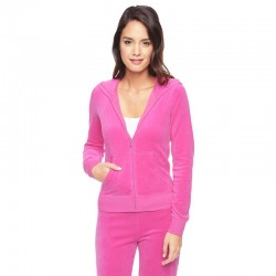 Juicy Couture Sequin Logo Velour Tracksuit 603 2pcs Women Suits Rose