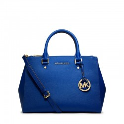 MICHAEL Michael Kors Sutton Medium Saffiano Leather Satchel Blue