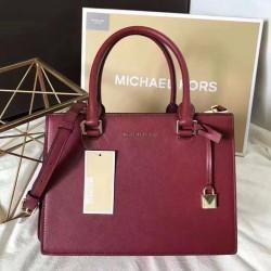 MICHAEL Michael Kors Sutton Small Saffiano Leather Satchel Red