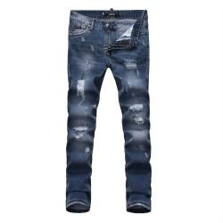 Philipp Plein SS2017 Mens Long Jeans Straight Beggar Navy
