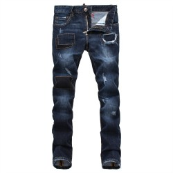 Philipp Plein SS2017 Mens Long Jeans Straight Fight Club Navy