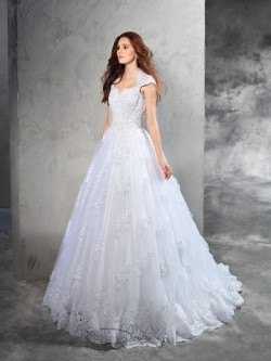 Schlicht Vintage Brautkleider Online Kaufen, Hochzeitskleider mit Spitze