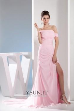 Vestito lungo con spacco laterale A Terra Semplici Mezza Coperta Chiffon – www.ysun.it