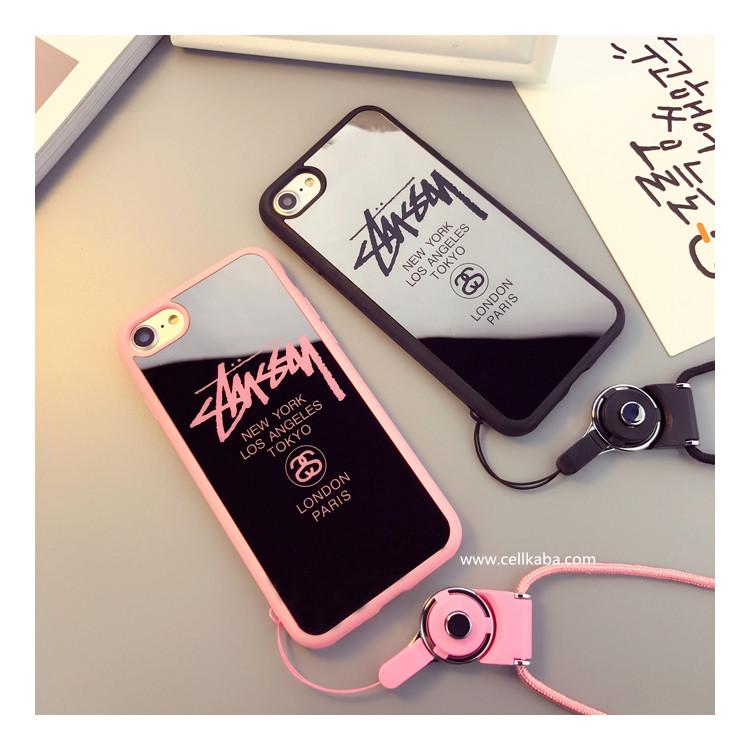 人気 ブラント stussy iphone8 iphone7 plus ハード カバー ステューシー風 アイフォン7 カバー ストラ ...