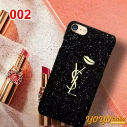 キラキラ IPhone8/X 携帯ケース サンローラン アイフォン8 Plus保護カバー IPhoneX カバー YSL