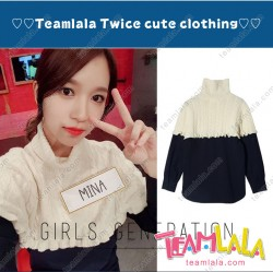 South Korea Kpop Mina TWICE Knit One Piece Uniform Costume