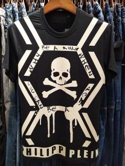 Philipp Plein SS2017 Mens T-Shirt Skull Print Black