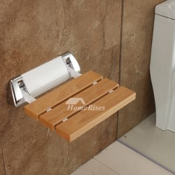 Simple Oak Square Shaped Wooden Shower Seat