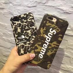 ブラント シュプリーム iPhone8 plus カバー 迷彩 おしゃれ Supreme iPhone7 plusカバー