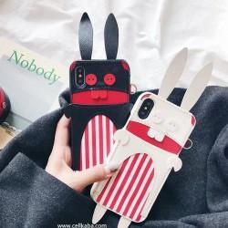 オリジナル 兎 アイフォン8プラスケース,iphone8 可愛いケース 芸能人愛用,original iphoneXケース ジ ...