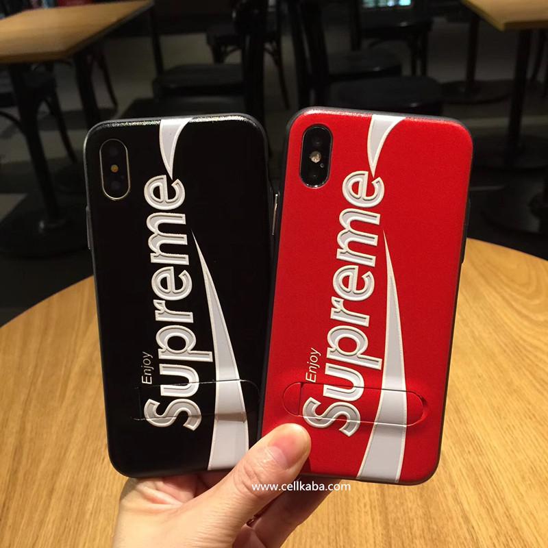 ブランド iPhone Xケース シンプル 放熱 アイフォン8カバー ペア 浮き彫り